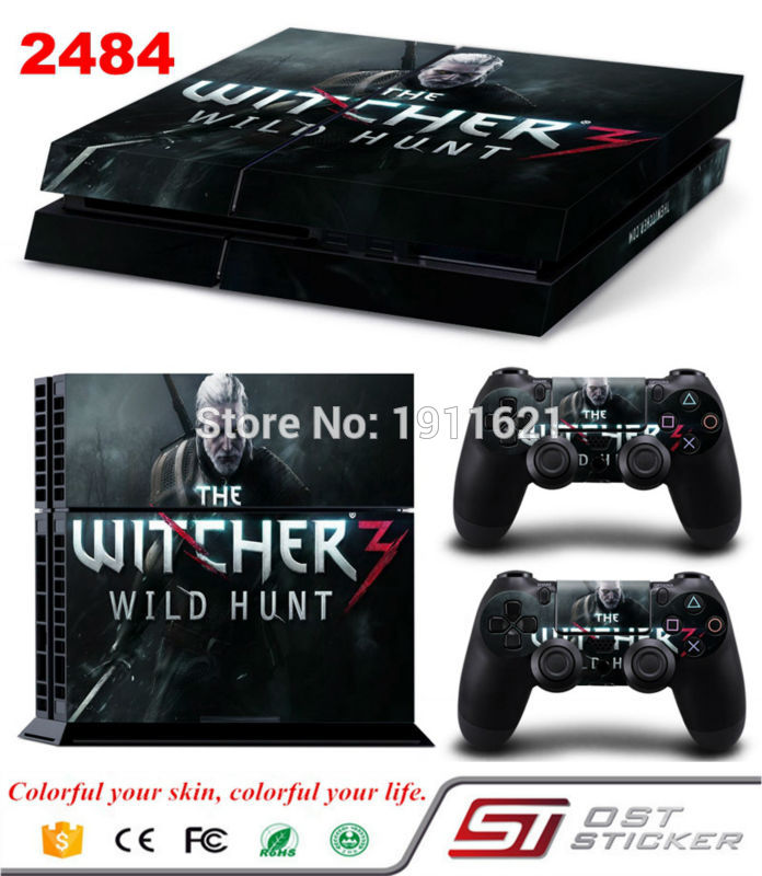 OSTSTICKER Game Decal Skin Stickers For Playstation 4 Console sticker 2 Pcs controller Stickers For PS4 Controller