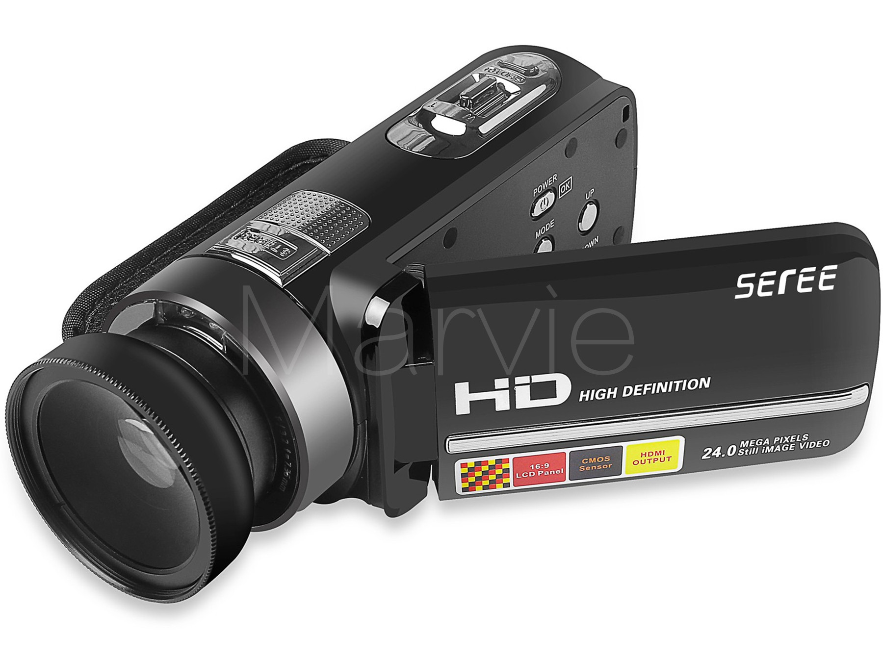 Seree 17 Latest HDV-301 Portable Camcorder Full HD 1080P 16x Digital Zoom Digital Video Camera Recorder DVR 4