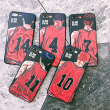 LISM Slam Dunk Basketball Jersey Back Soft Emboss TPU Phone Case Cover Anti-knock Protector For iPhone 6 6S 7 8 Plus X XR XS Max стоимость