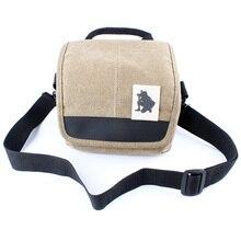 Брезентовая сумка для камеры чехол для Nikon D3000 D3200 D3300 D5000 D5100 D5200 18-55 объектива или 35 Малый фиксированным фокусным
