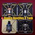 Original Aspire Nautilus X Atomizer electronic cigarette Top Airflow U-Tech aspire nautilus x Coil 1.5ohm replacement glass tube