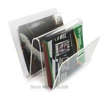 Прозрачный акриловый держатель для книг домашнего офиса журналов