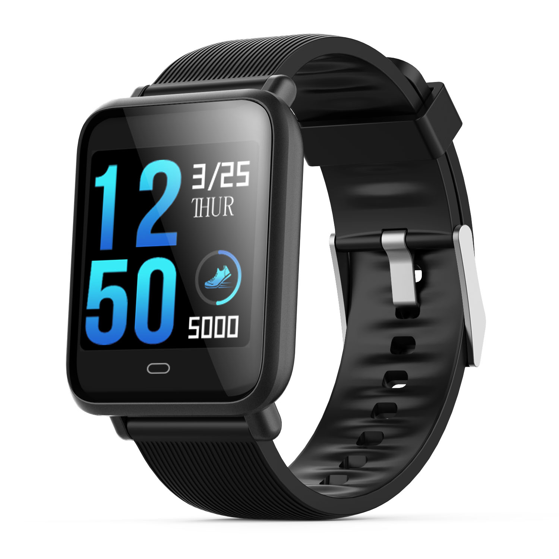 Q9 smartwatch mit herz rate monitor blutdruck uhr smart watch unterstützung Facebook WhatsApp für männer frauen