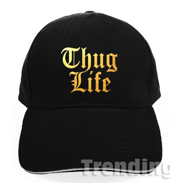 b566a0439b5 Men women cap thug life awesome gold print hip hop Snapback hats new hip  hop golf caps sun visor street skateboard casquette