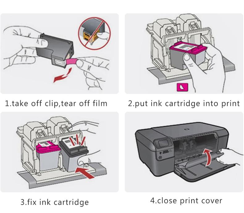 XL Cartucho de Tinta Compatível para Hp