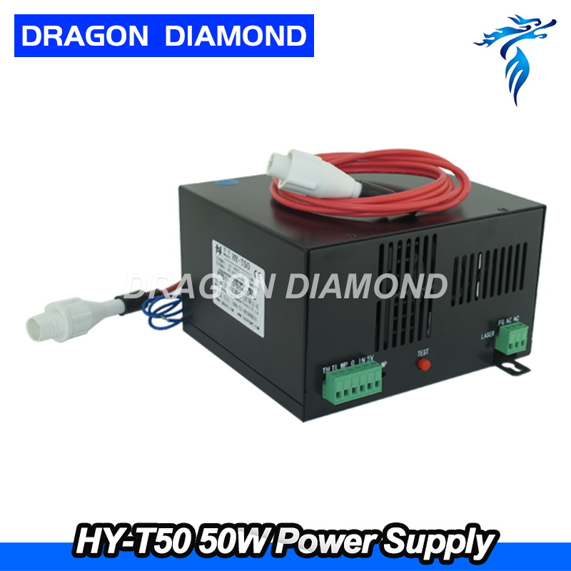 50W CO2 Laser Power Supply HY-T50 common source for CO2 Laser Engraving Cutting Machine high voltage flyback transformer for co2 50w laser power supply