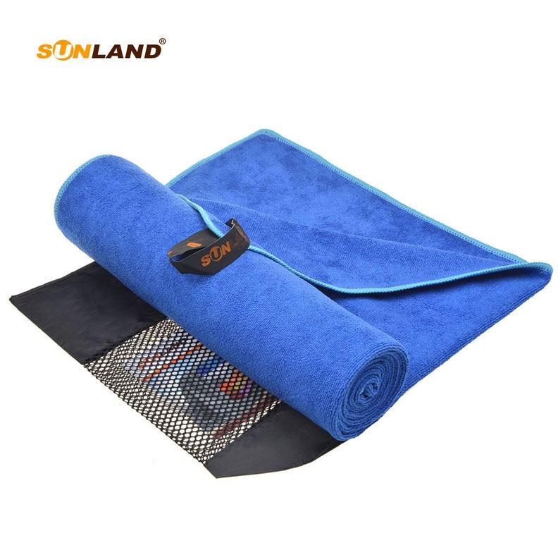 3 PC/LOT 60 cm x 120 cm serviette en microfibre voyage Camping Sports entraînement serviette de plage serviette de bain avec sac