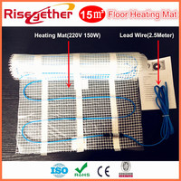 Home Under Floor Heating Parts 220V Heating Mat Self Adhesive Twin Conductor Floor Mats 15M2 Free