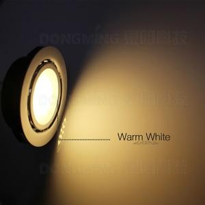 Image 5 - 50pcs 1.5W 12V LED spot light recessed spotlight cold warm white Steel kitchen cabinet closet display case down lamp