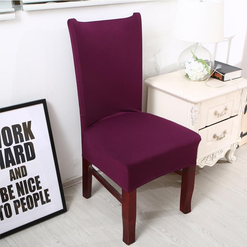 Твердый цвет Съемный чехол для стула - Домашний текстиль