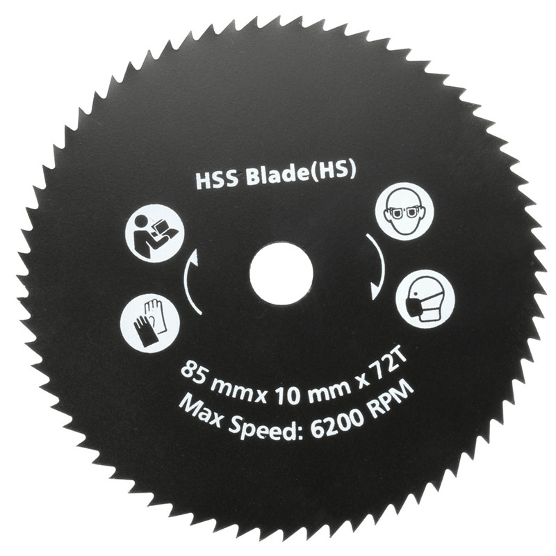 Newest 1PC 85mm 72T HSS Circular Saw Blade Wood Cutting Disc Wheel For Worx WorxSaw Wood Metal Working Tools Hot Sale