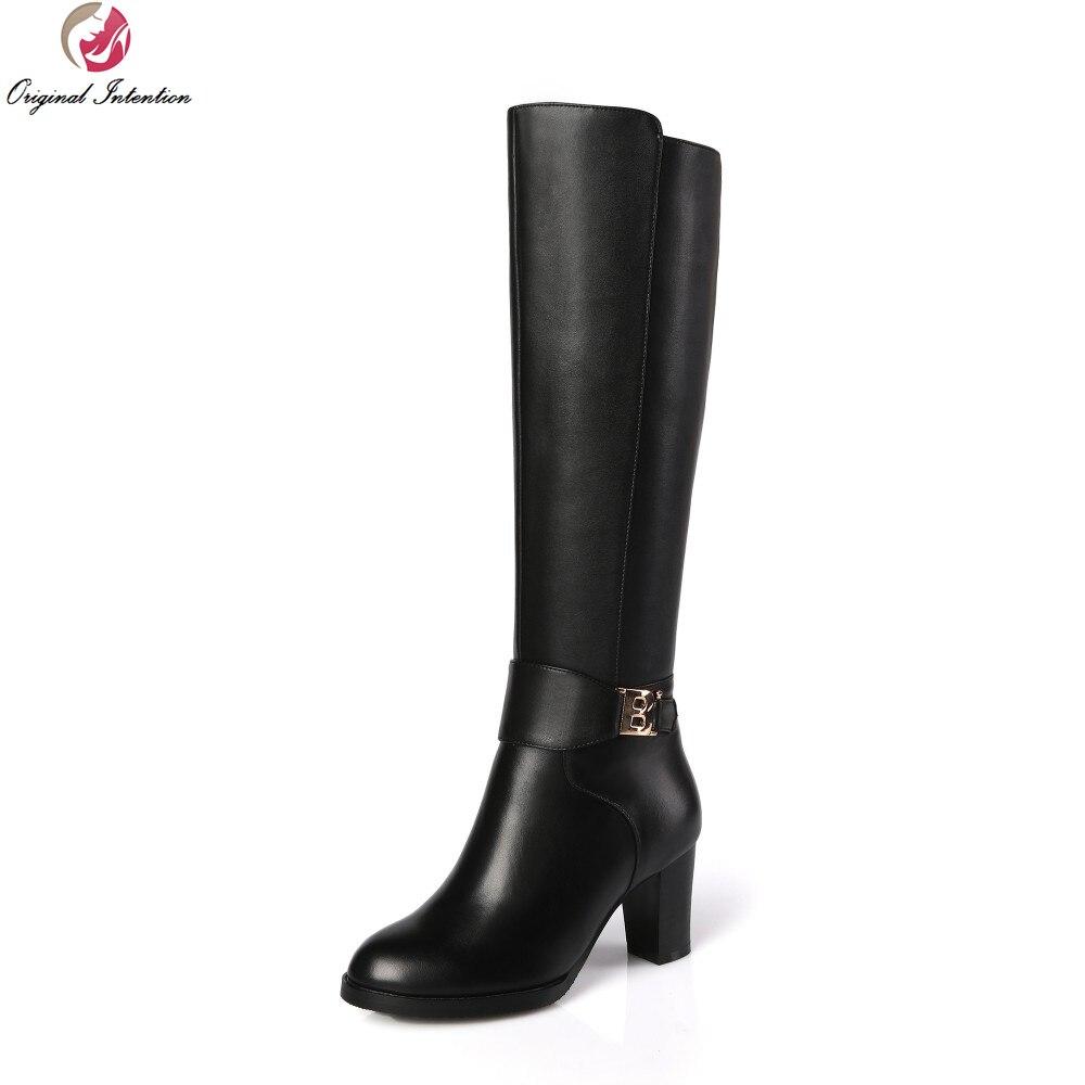 Genou 6171 Taille À Rond Chaussures Carrés De Bottes Us Femme Haute ZiuOkXP