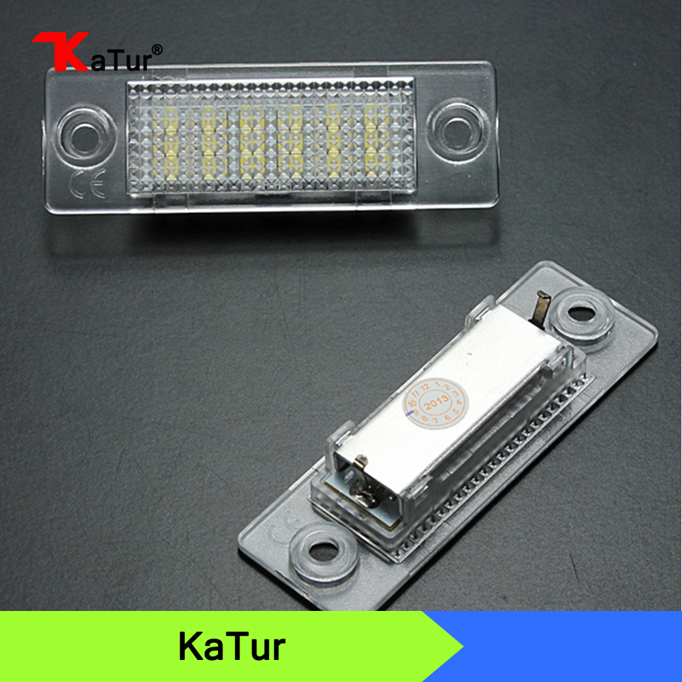 LED License Number Plate Light Lamp 18SMD For VW Caddy Transporter Passat Golf Touran Jetta For Skoda No Error motorcycle tail tidy fender eliminator registration license plate holder bracket led light for ducati panigale 899 free shipping
