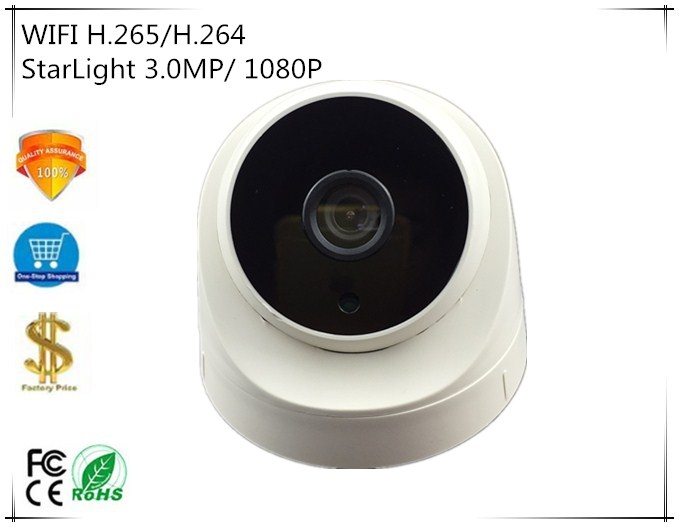 WIFI Wireless IP Dome Camera StarLight Sony IMX291 3516E C NightVision H 265 H 264 3