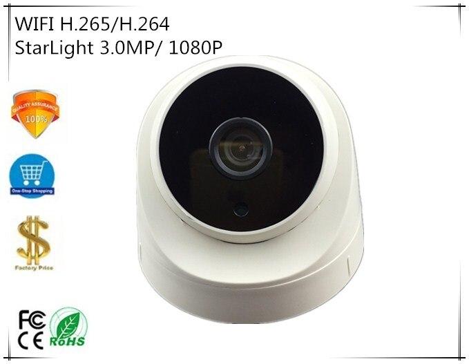 WIFI Draadloze IP Dome Camera StarLight Sony IMX291 + 3516C NightVision H.265/H.264 3.0MP 1080P Intelligente Analys XMEYE CMS-in Beveiligingscamera´s van Veiligheid en bescherming op AliExpress - 11.11_Dubbel 11Vrijgezellendag 1