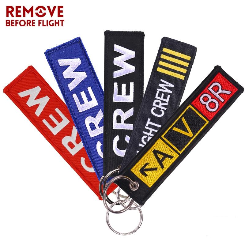 Keychain For Company Promotion Gifts Fashion Keychains Llaveros Luggage Tag Embroidery Crew Key Chain Fashion Crew Keyring Chain