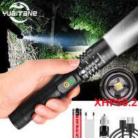 80000LM puissant lampe de poche LED XHP50.2 torche Rechargeable XHP70.2 USB Zoom lanterne XHP50 lampe de chasse auto-défense utilisation 18650