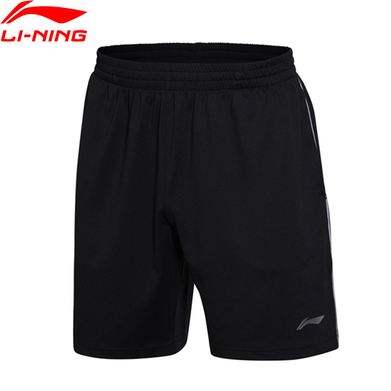 Li-Ning Men Badminton Shorts Competition Bottom AT DRY Fitness Comfort Breathable LiNing Training Sports Shorts AAPM145 Q091