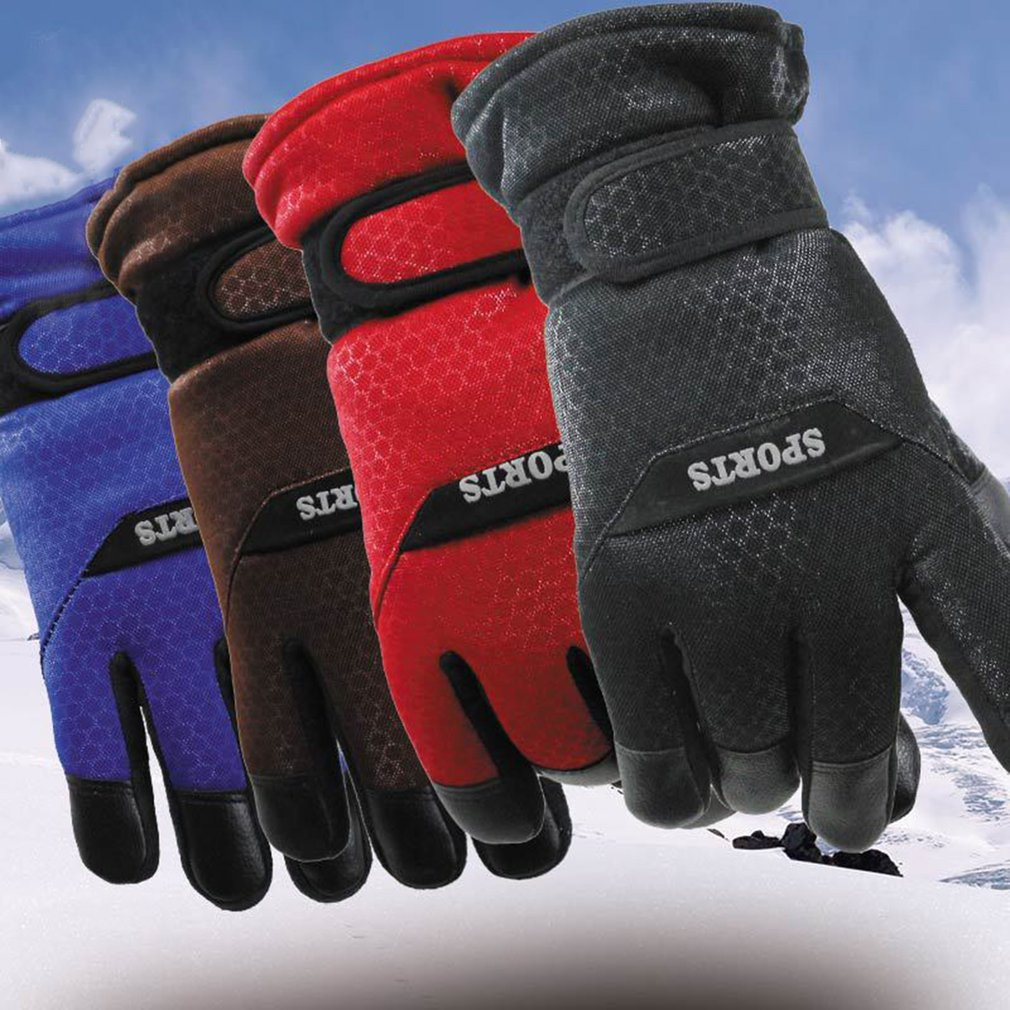 Outdoor Skiing Sloves Thickened Anti-slip Men Touch Screen Winter Keep Warm Gloves Breathable Windproof Motorcycle Skiing Gloves
