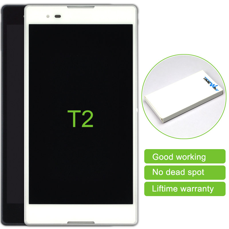 10 Pcs New Mobile Phone Parts Lcd Dispaly Touch Screen Digitizer Assembly With Frame For Sony Xperia T2 Ultra Dual D5322 Xm50h
