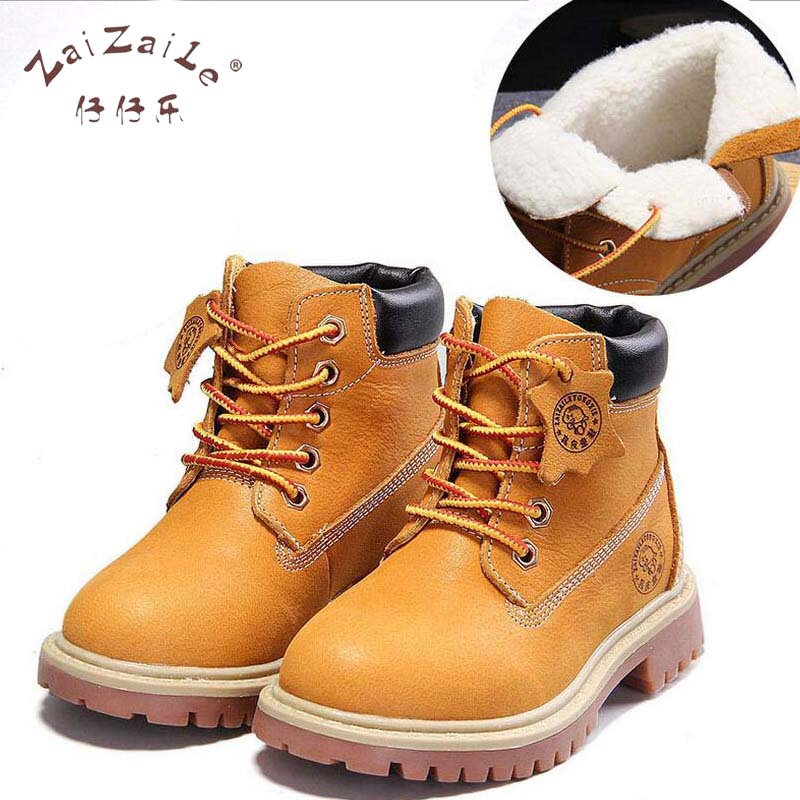 2017 Winter Children Genuine Leather Boots Brand Boys Buckle Shoes Fashion Ankle Martin Boots for Kids bota infantil 1201F 2016 winter children genuine leather boots brand boys cotton buckle shoes fashion ankle martin boots for kids