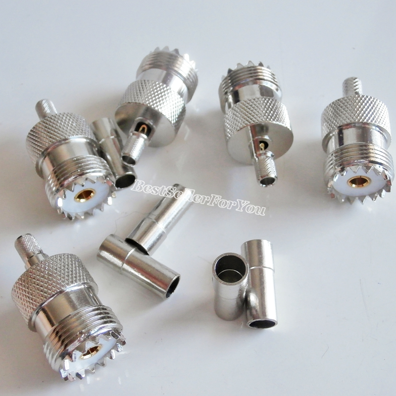 USA Seller N Female Crimp Connector for RG58 LMR195 RG400 RG142 Cable 1 SET