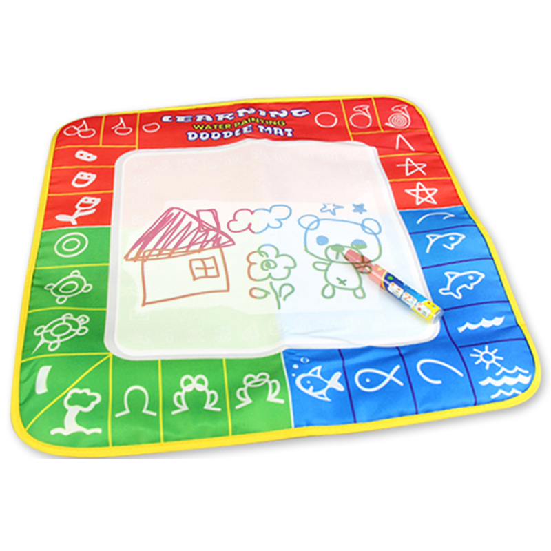 49*49cm Water Drawing Mat Baby Writing Doodle Board With Magic Non-Toxic Water Pen Educational Game Play Toys Gifts For Kid