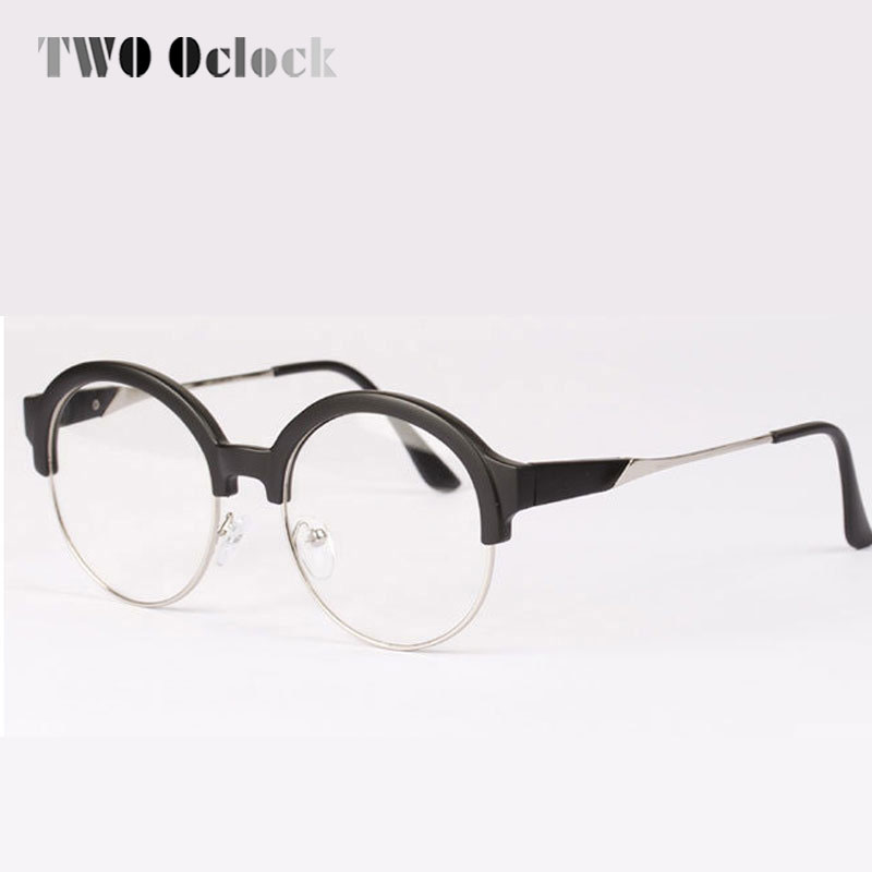 Korea Stil Vintage Brille Mit Klaren Linse, hipster Halb Rahmen ...