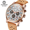 Ochstin New Luxury Sport Watch Men Skeleton Quartz Wrist Watch for Men Waterproof Men's Watch Military 3 Sub Dial Work Clock Men