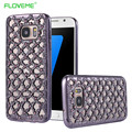 FLOVEME Luxury Cases For Samsung Galaxy S6 S6 Edge S7 S7 Edge A5000 J5 2016 Plating Hollow Lattice Case Back Protective Cover