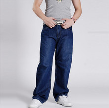 2015 Fashion Mens Hip Hop Baggy Pants Denim Jeans Trousers Skateboard Pants for Men 30-45