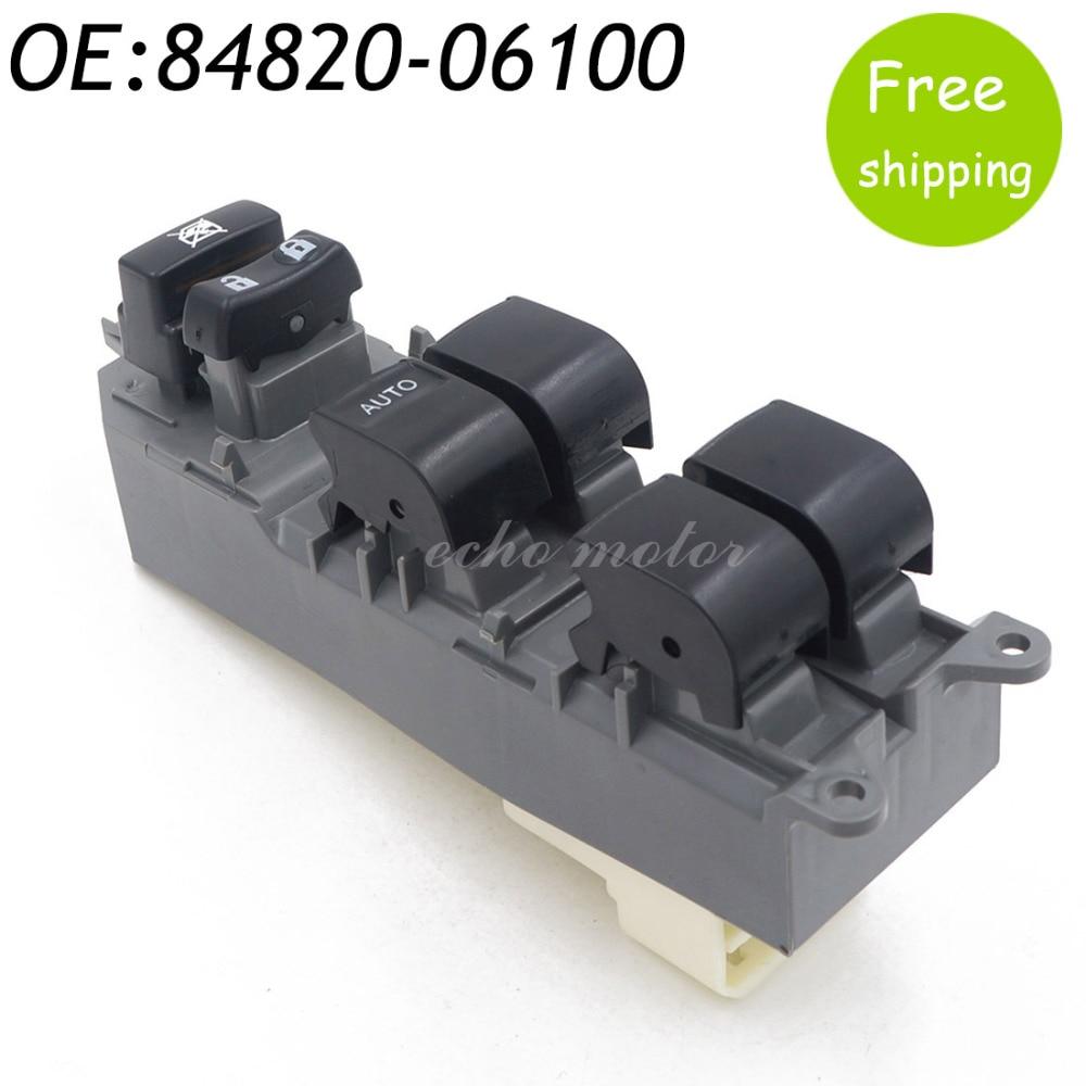 New 84820-06100 Master Power Left Window Switch Button For Toyota RAV4 Camry Corolla Auris Urban Cruiser 84820-06130 84820-02190