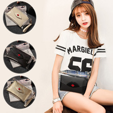 New Vogue PU Leather-based Purse Clear Jelly Bag Shoulder Messenger Lips Clutch Luggage Ladies LT88