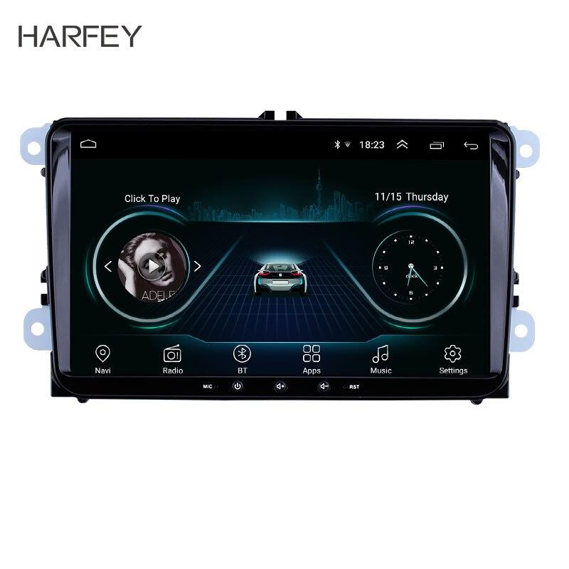 Autoradio GPS 4 cœurs Android 8.1 pour VW Volkswagen Golf Polo Tiguan Passa MK5 MK6 Jetta Touran siège CANBUS WIFI lien miroir