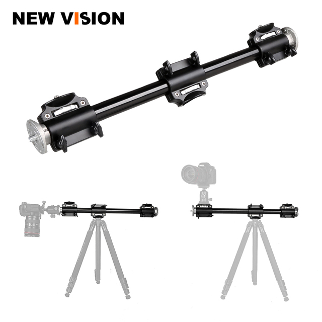 Aluminum 3/8 Screw Support Tripod Arm Rock Solid Cross Bar Side Arm for 4 Heads Head Professional Photography Studio Fixtures