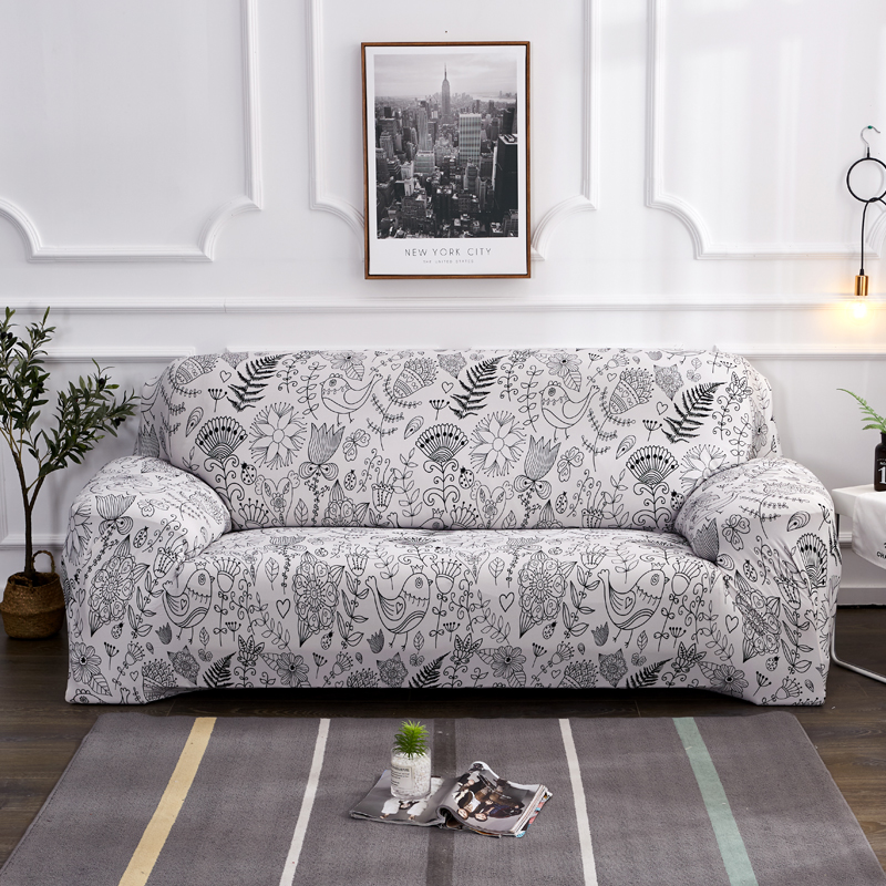 US $15.98 53% OFF|2019 New Pattern Design Universal Stretch Sofa Covers  Sectional Cover Case Living Room Couch Slipcover Elastic 1/2/3/4 Seater-in  ...