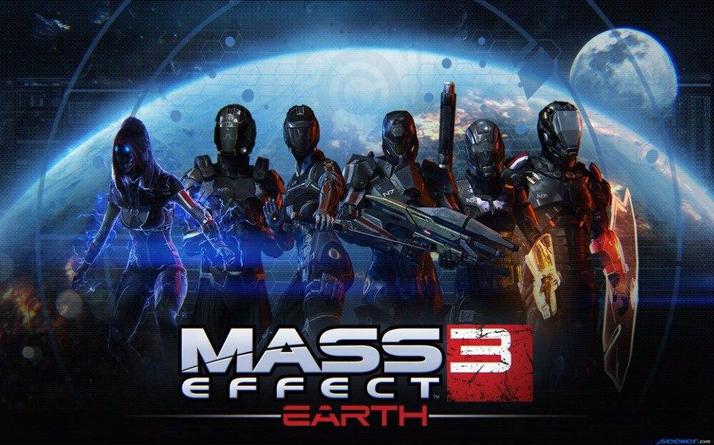 """Mass Effect 2 <font><b>3</b></font> <font><b>4</b></font> Game Fabric poster <font><b>21</b></font>"""" <font><b>x</b></font> 13""""--90"""