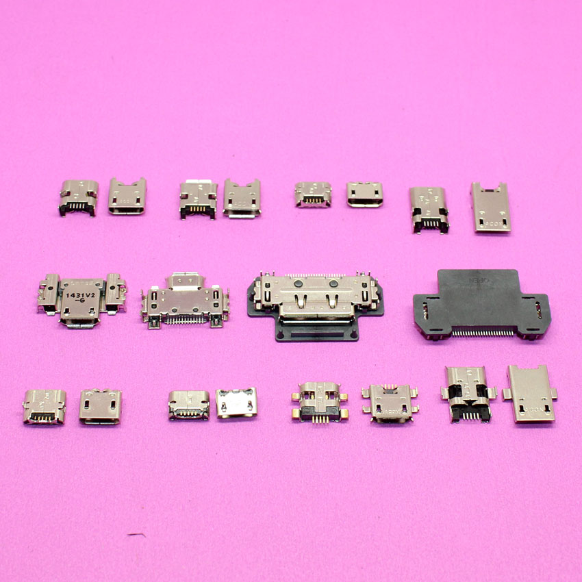 10models Micro usb Jack connector charging port for ASUS FonePad K004 Zenfone 4 K001 K012 K013 102A ME301T ME302C ME372 ME180 micro usb charging port charger dock for lenovo yoga tablet b6000 plug connector flex cable board replacement