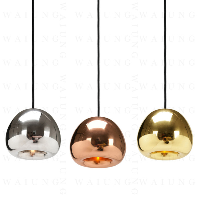 Modern Minimalist Void Lamp Hanging Glass Ball Pendant With Multi Reflective Bulb Kitchen Light Fixtures