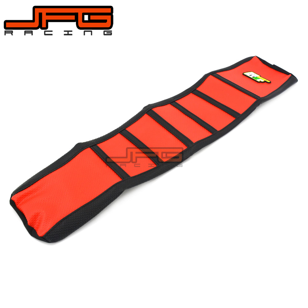 Red Pro Ribbed Rubber Gripper Soft Seat Cover For HONDA CRF250R CRF250 R 2014-2016 CRF450R CRF450 R 2013-2016