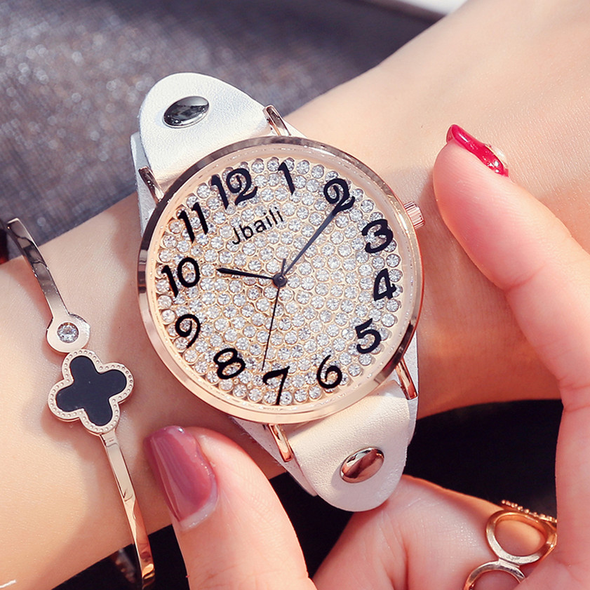 women watches Brand JBAILI Fashion quartz-watch Women's Wristwatch clock relojes mujer dress ladies watch hodinky montre femme cartoon gold horse print blue leather strap sports ladies quartz watch relojes hombre 2017 bayan saat women watches hodinky b133