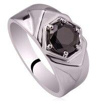 Trộn Thứ Tự 5 Cái Rất Nhiều 925 Sterling Silver Rings Rhodium Plated đen Onyx Có Thể Khắc Chữ Wedding Nhạc Chuông cho Nam Giới MX8 BỘ GỘP KÊNH