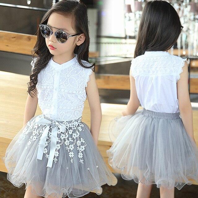 c098243dde 2019 niñas conjuntos de ropa de verano de estilo de moda ropa de bebé para  niñas