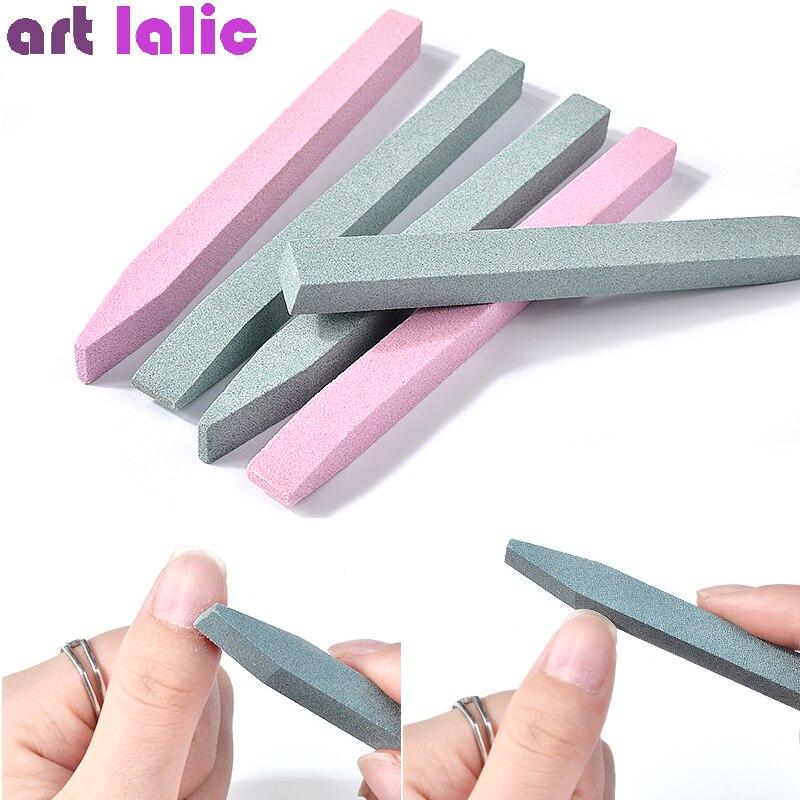 Professional Nail Art Pusher Files Quartz Scrubs Stone Cuticle Stick Pen Spoon Cut Manicure Care Nail Polishing Tools