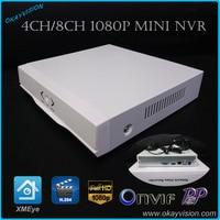 Free Shipping Okayvision New Onvif 4CH 8CH NVR HDMI 1080P P2P Cloud H 264 Network Video
