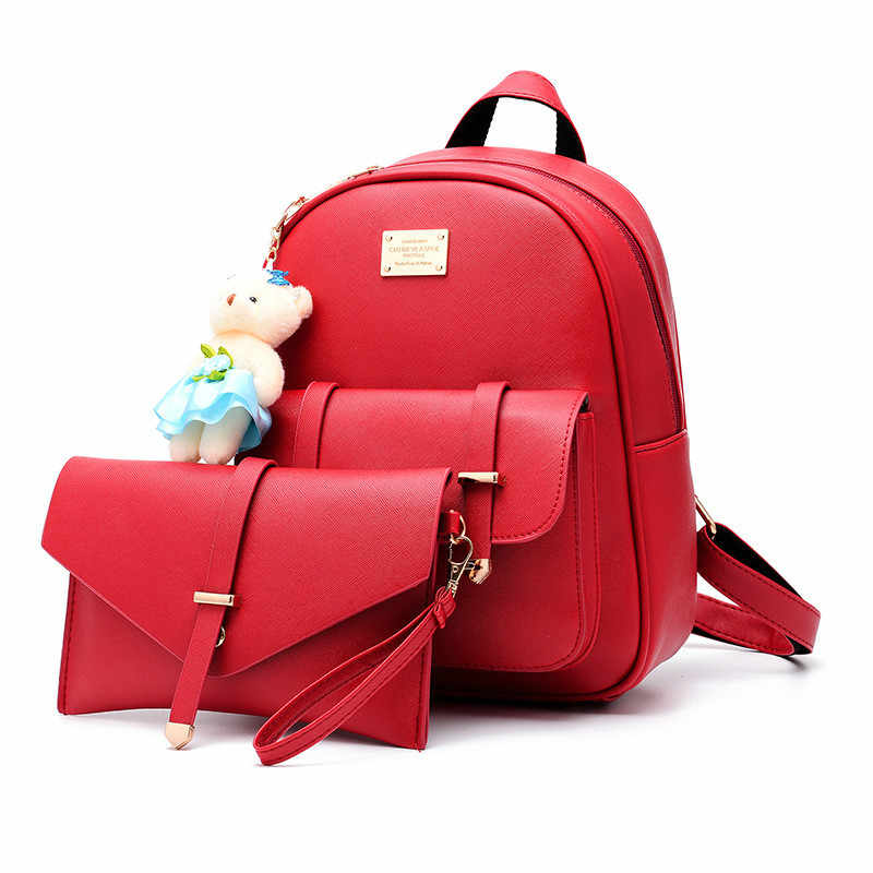 af4c95db0d33 MONNET CAUTHY Ladies Bags Concise Sweet New Fashion Leisure Backpacks Candy  Color Pink Wine Red Blue
