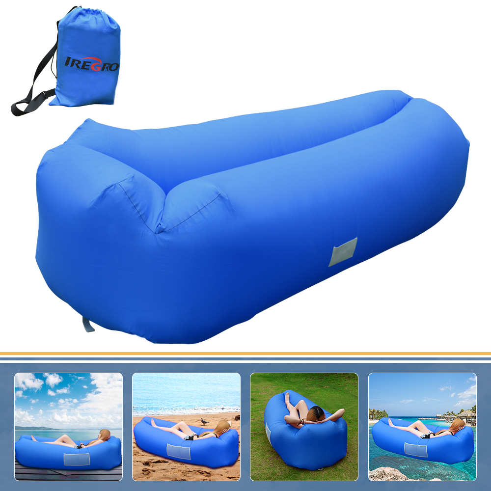 High Quality lazy sofa fast air inflatable Beach bed Lounge Camping of sleeping air lounger inflatable Bed Lazy Sleeping Bag