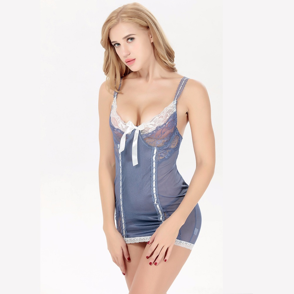 41ab9be62881 Women Sexy Nightgown Sleeping Dress Night Dress Sexy Lingerie Sleepwear  Nightwear Sexy Silk Nighty Chemise Lace Indoor Underwear-in Nightgowns    Sleepshirts ...