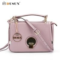 DUSUN Women Shoulder Messenger Flap Handbag Genuine Leather Women Bag High Quality Lock Bag Casual Tote