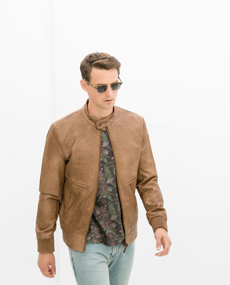 Tan Bomber Jacket - JacketIn